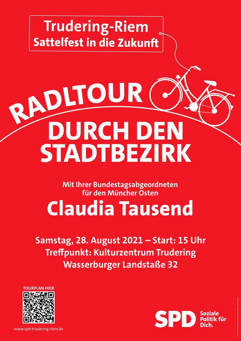 Radltour durch Trudering-Riem mit Claudia Tausend