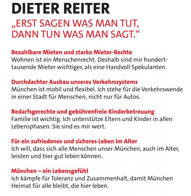 Dieter Reiter Ziele